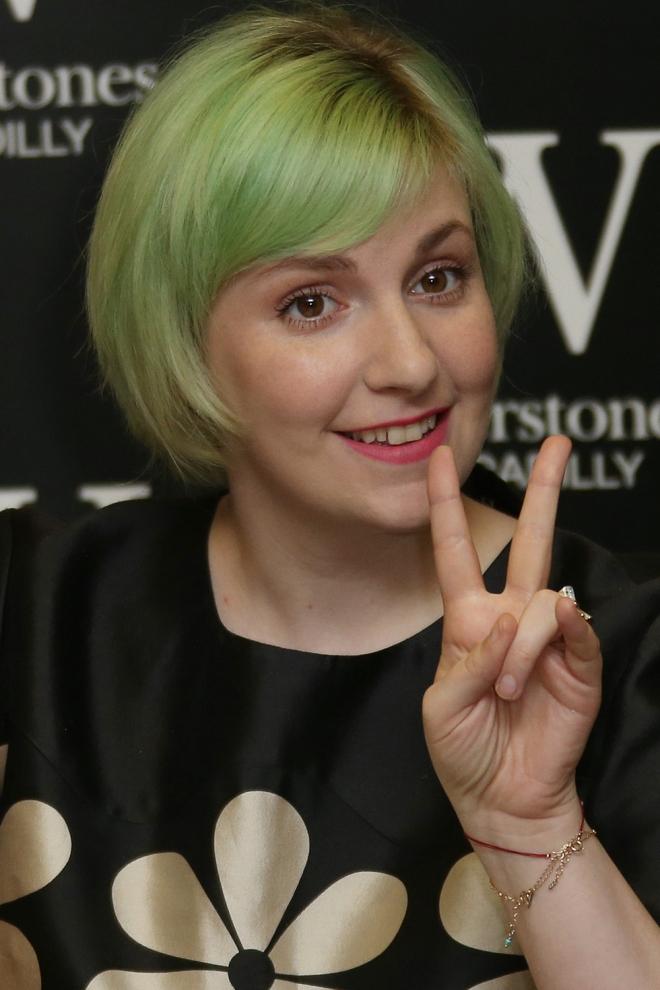 Pelo de colores: Lena Dunham, a tope con el verde