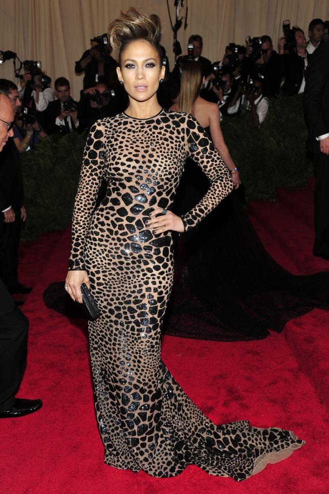 Jennifer Lopez, animal print