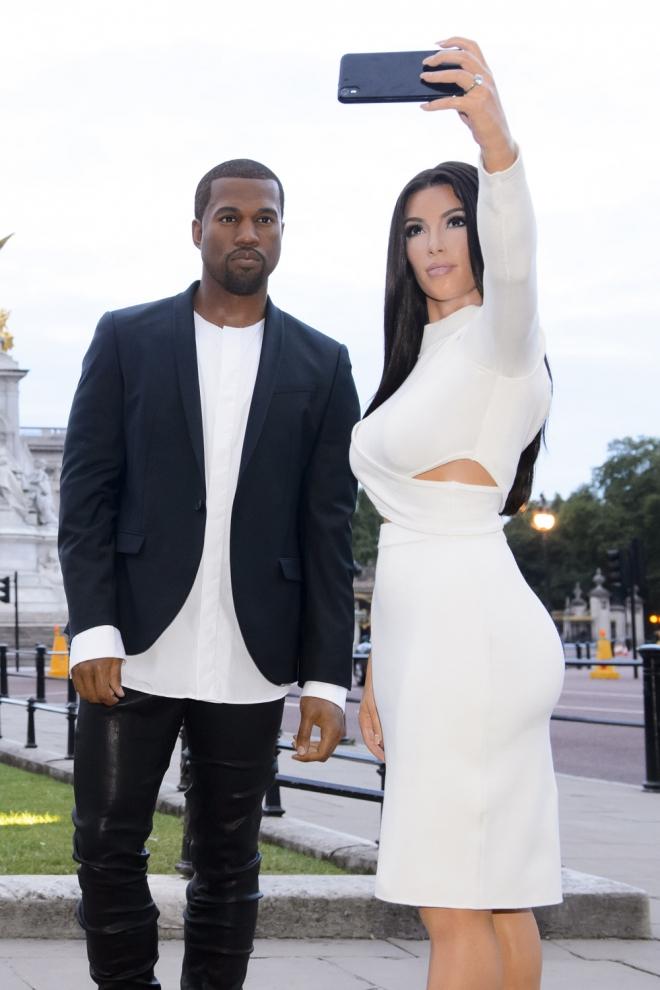 Kim Kardashian y Kanye West, dobles de cera en Londres