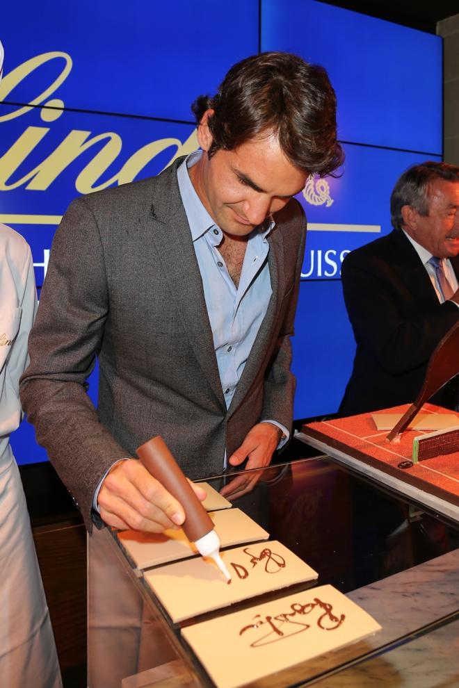 Federer, momento dulce