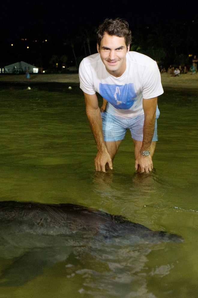 El lado más divertido de Federer