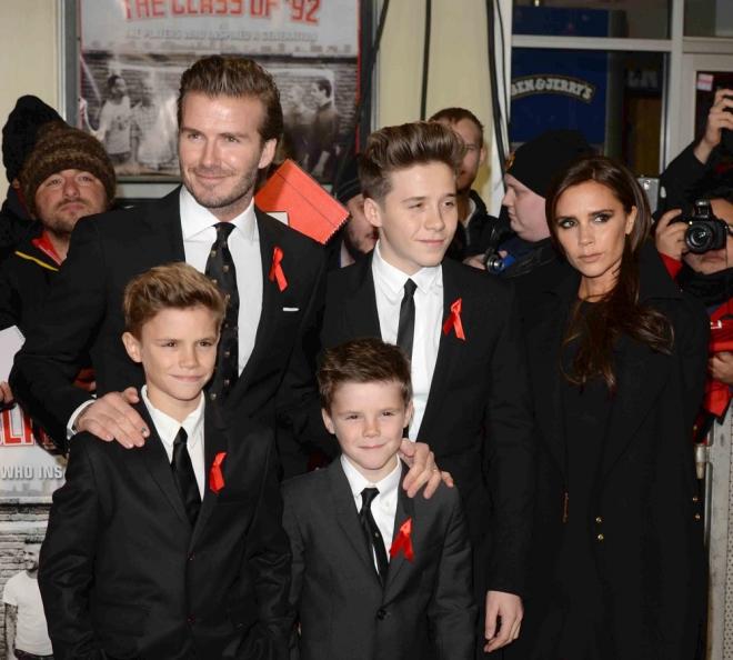 Victoria y David Beckham, padres de cuatro hijos