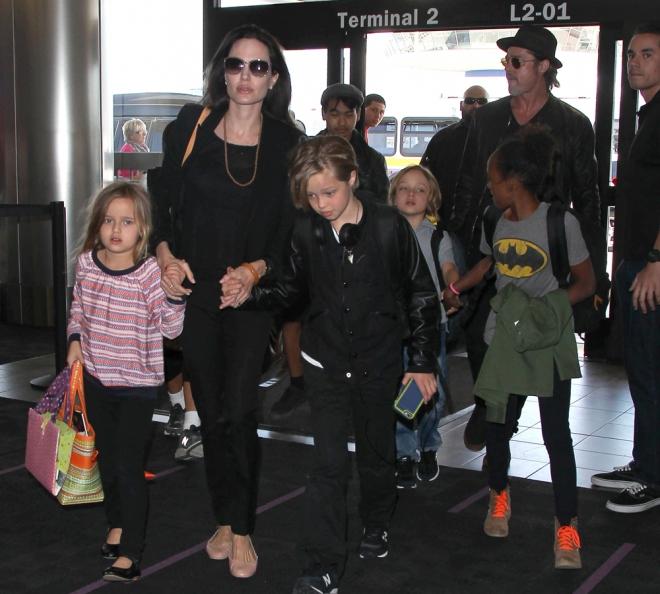 Angelina Jolie y Brad Pitt, la familia más numerosa de Hollywood