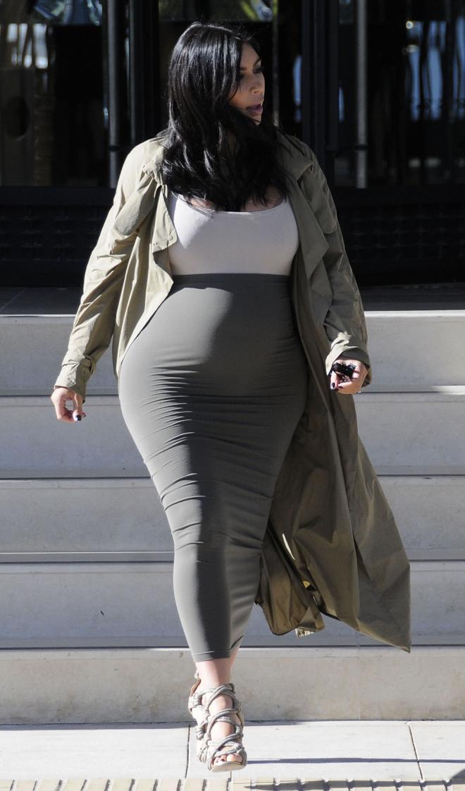 Famosas premamá: Kim Kardashian en su segundo embarazo