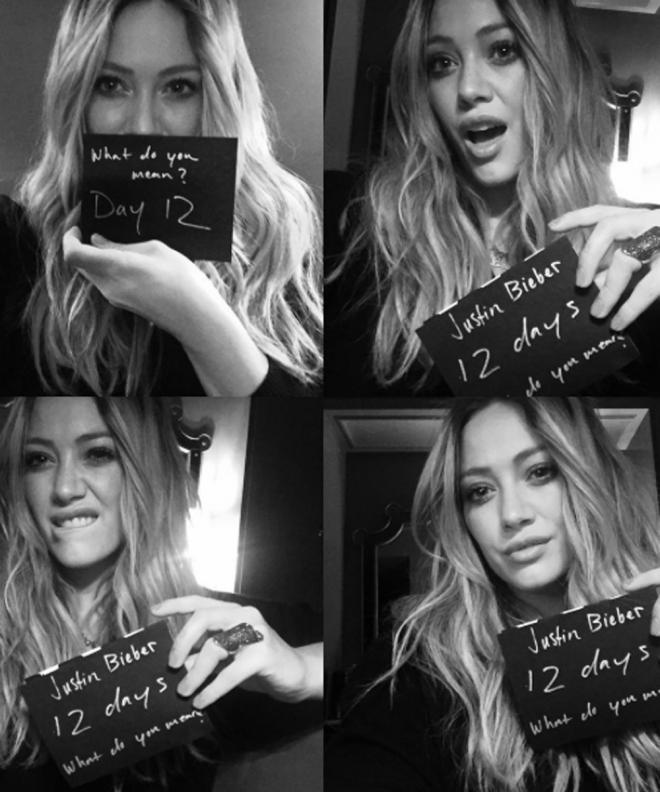Hilary Duff, loca con What do you mean de Justin Bieber