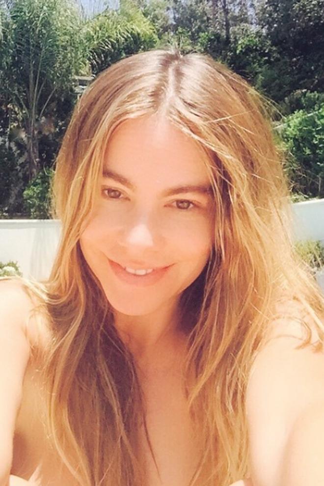 Famosas sin maquillar: Sofía Vergara se muestra al natural