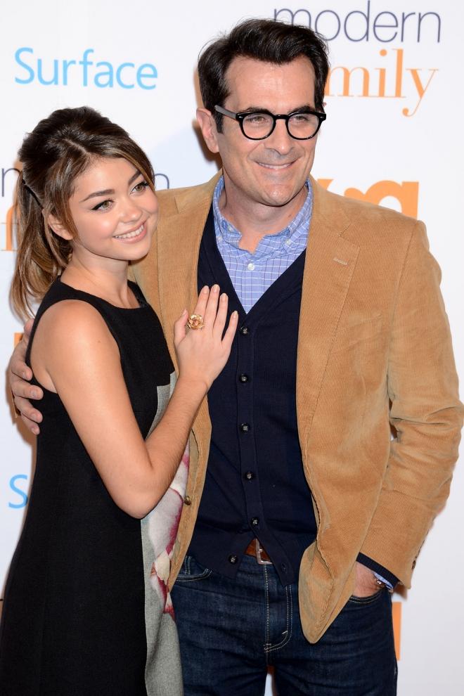 Ty Burrell y Sarah Hyland, padre e hija en Modern Family
