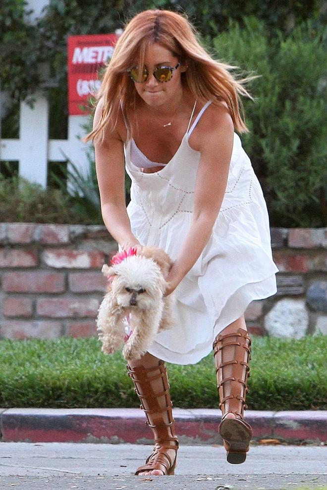 El sujetador de Ashley Tisdale