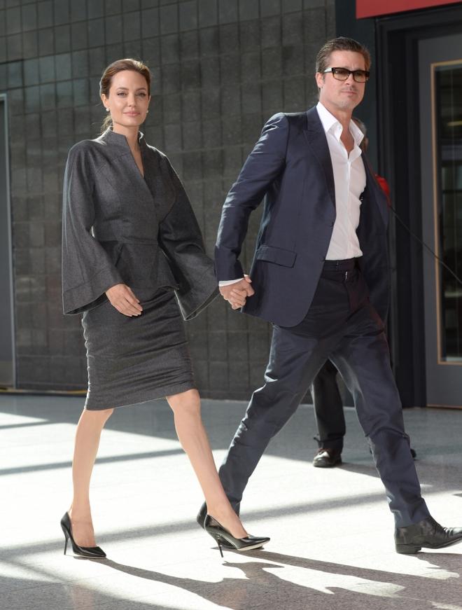 Brad Pitt y Angelina Jolie, pareja muy compenetrada