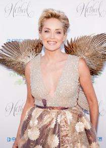 Sharon Stone, una mujer dorada