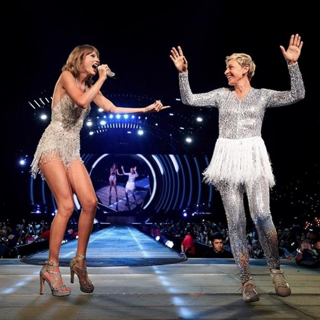 Elle Degeneres también está con Taylor Swift en su tour