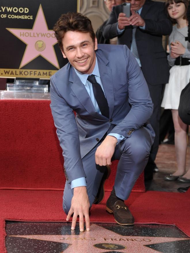 James Franco, con su estrella en Hollywood