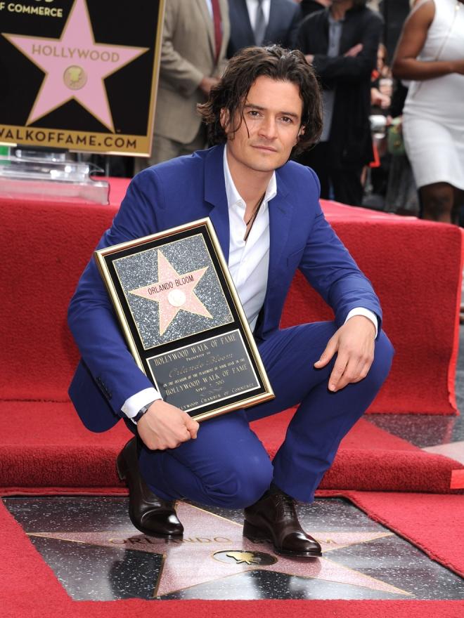 Orlando Bloom también tiene una estrella en Hollywood