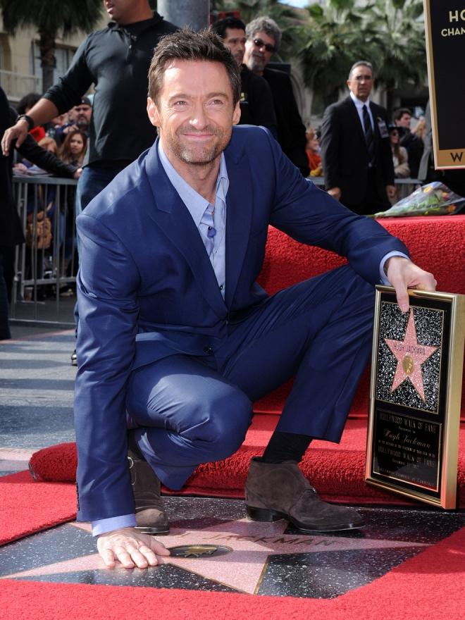 Hugh Jackman y su estrella en Hollywood