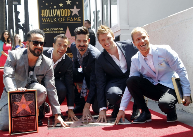 Hollywood reconoció su fama a los Backstreet Boys