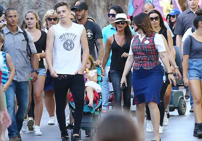Los Beckham revolucionaron Disneyland