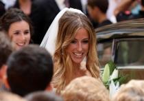 María Lorente, el día de su boda con Llorente