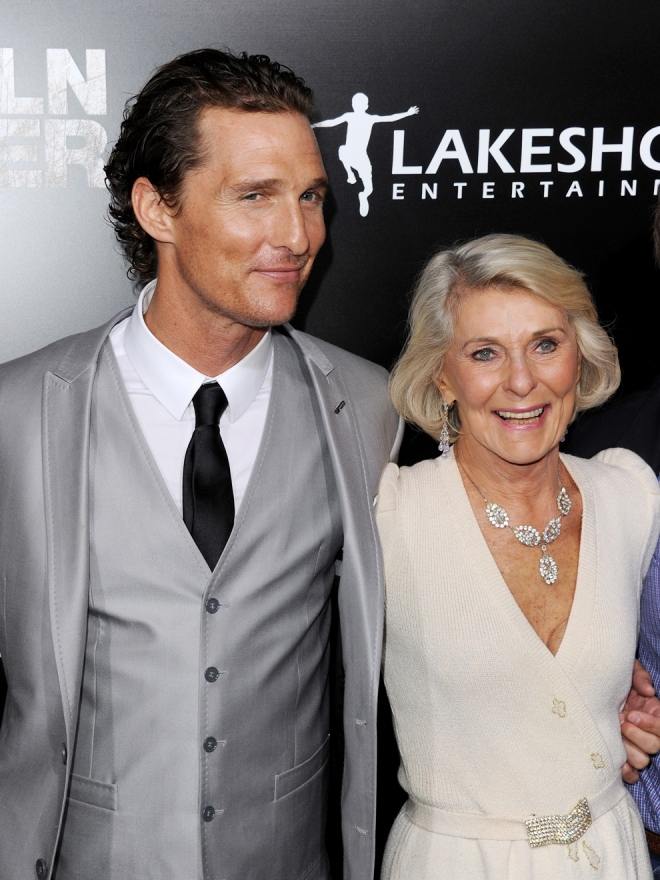 Suegras de Hollywood: la madre de Matthew McConaughey