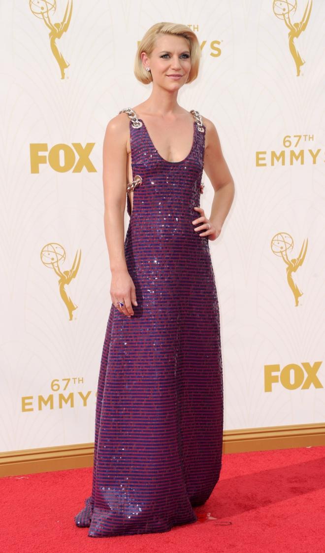 Emmys 2015: el look más brillante de Claire Danes
