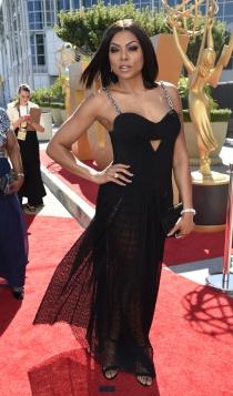 Emmys 2015: el look en negro de Taraji P. Henson