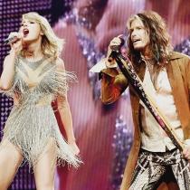 Taylor Swift, junto a Steven Tyler en 1989 Tour