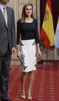 Uno de los looks de la reina Letizia