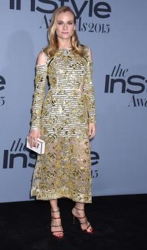 InStyle Awards 2015: el look dorado de Diane Kruger