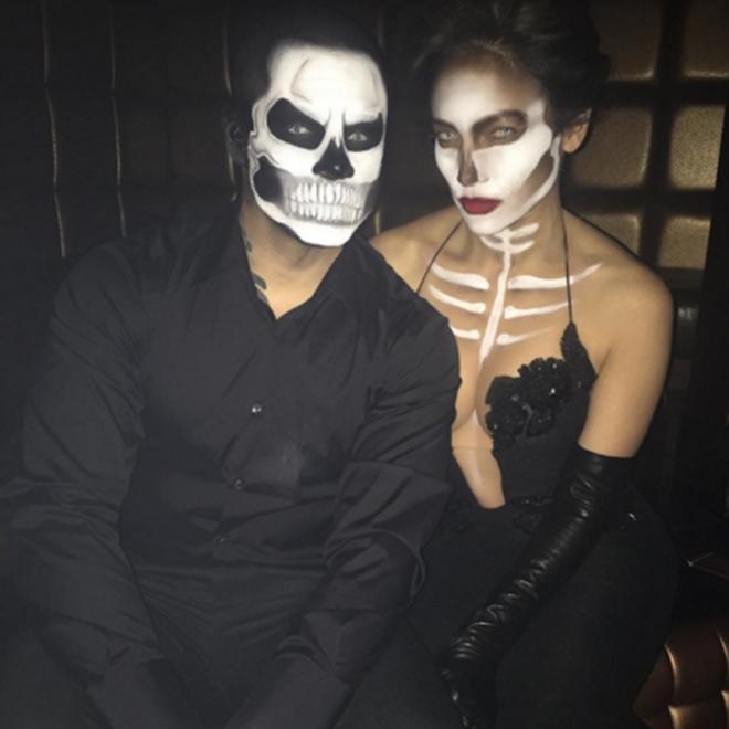 Halloween en Instagram: JLo y Casper Smart