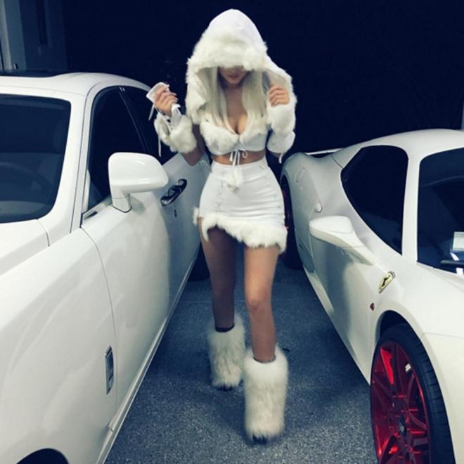 Halloween en Instagram: el look de las nieves de Kylie Jenner