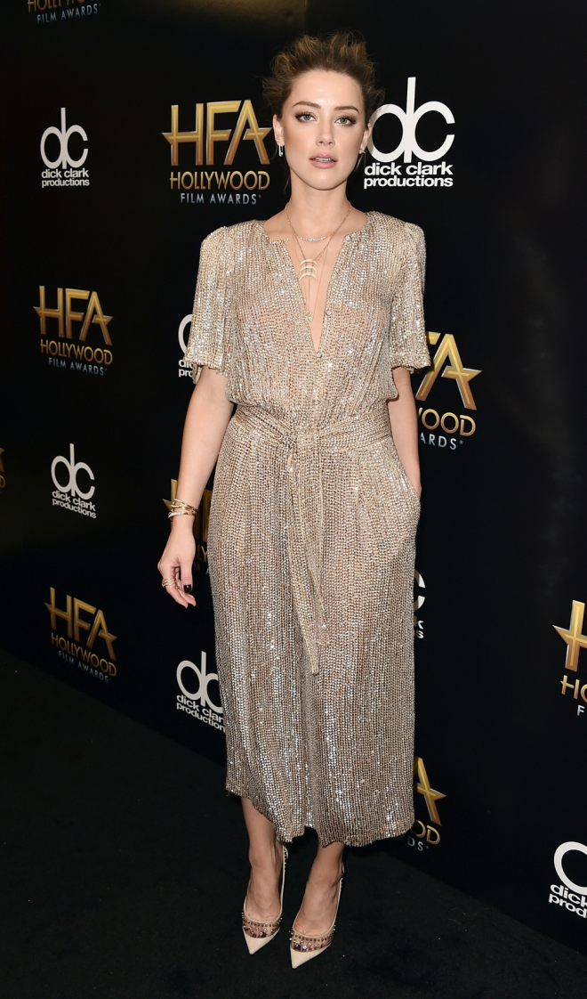 Hollywood Film Awards: Amber Heard, siempre estupenda