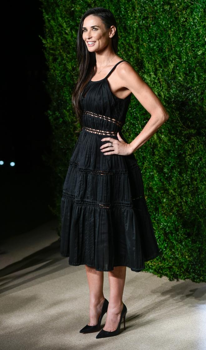 Premios CFDA Vogue: Demi Moore, total black