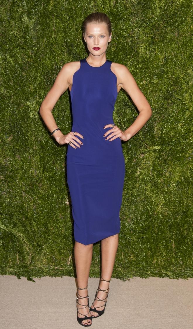 Premios CFDA Vogue: Toni Garrn apuesta por el azul