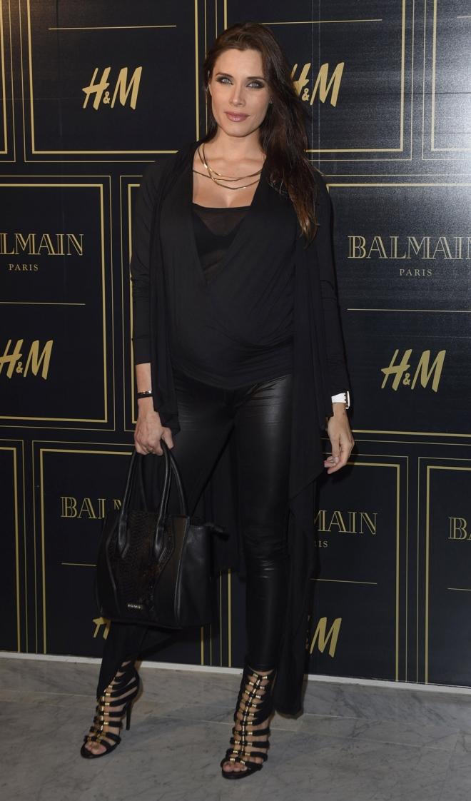 Balmain para H&M: Pilar Rubio, total black