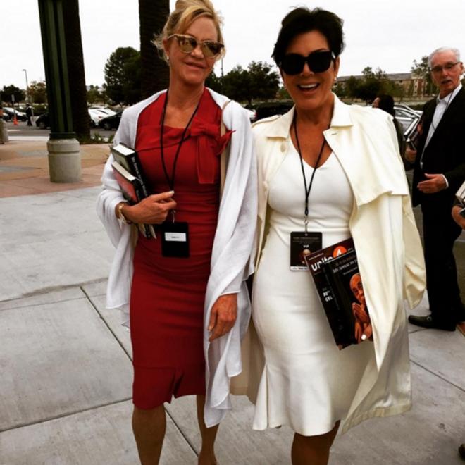 Kris Jenner con su amiga Melanie Griffith