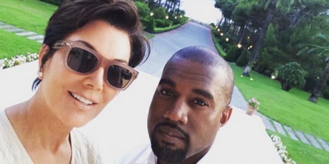 El selfie de Kris Jenner y Kanye West