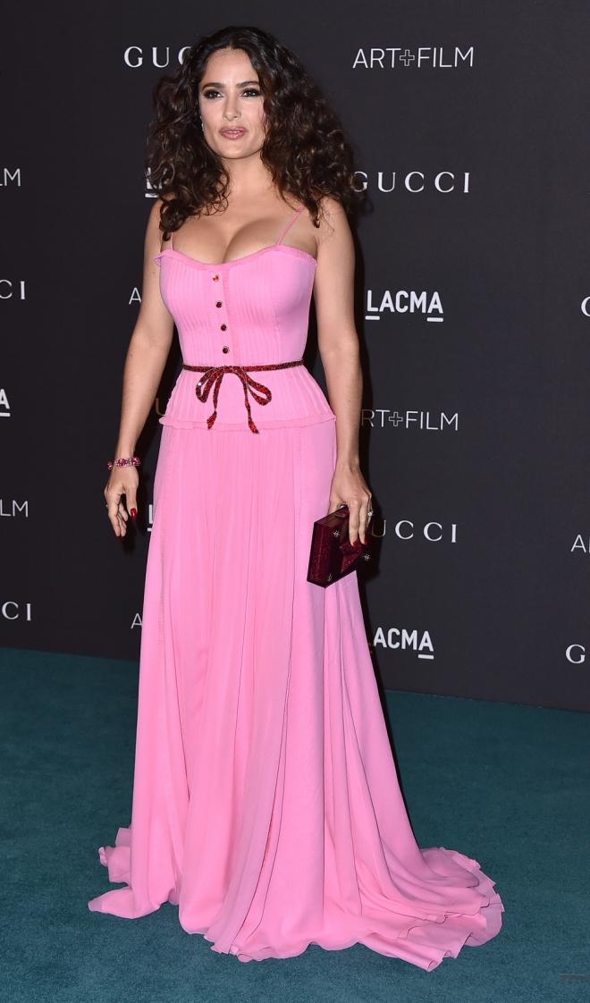 Vestidos para pecho grande: Salma Hayek - 10 fabulosos vestidos de ...