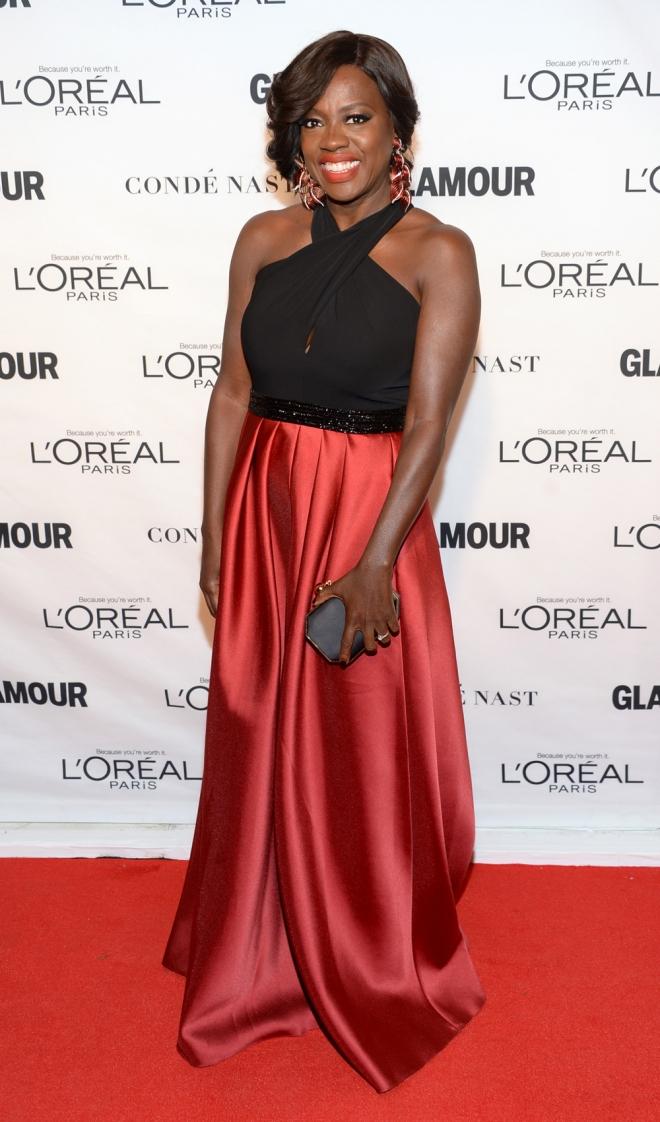 Premios Glamour Mujer del Año: Viola Davis, radiante y estupenda