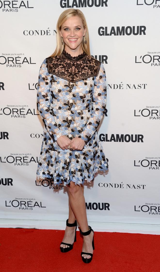 Premios Glamour Mujer del Año: Reese Whiterspoon apuesta por las flores
