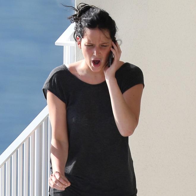 Jennifer Lawrence y su cara de enfado absoluto