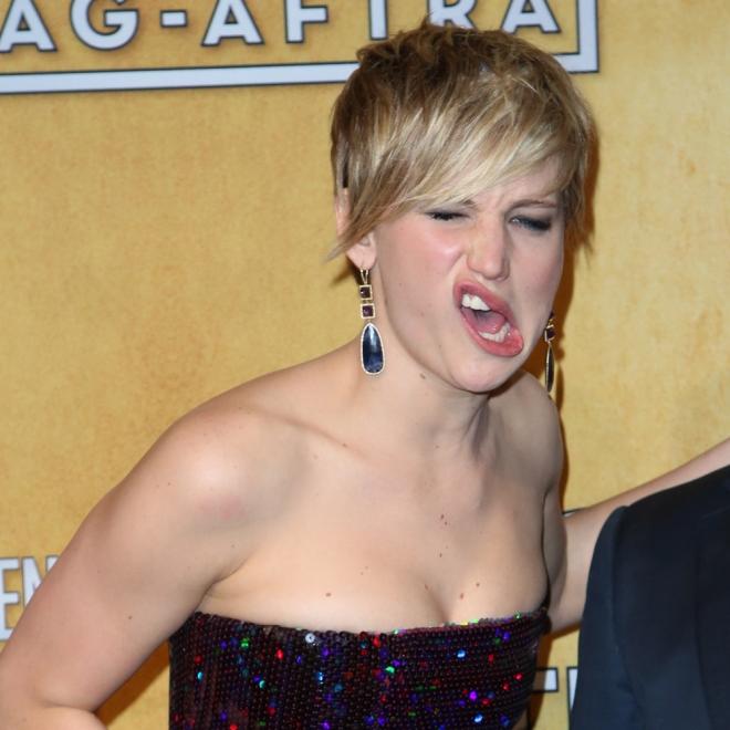La cara más impactante de Jennifer Lawrence