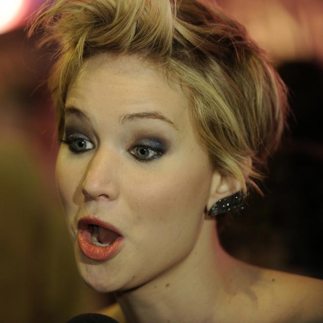 Jennifer Lawrence y su cara de sorpresa