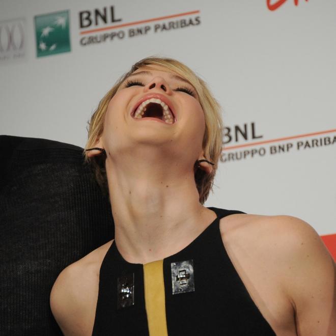 Jennifer Lawrence, 'muerta' de la risa