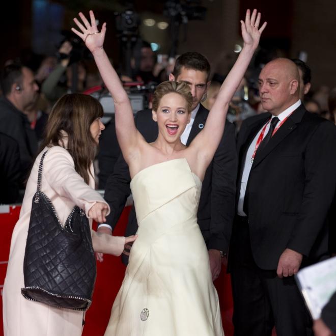 Jennifer Lawrence, el alma de la fiesta