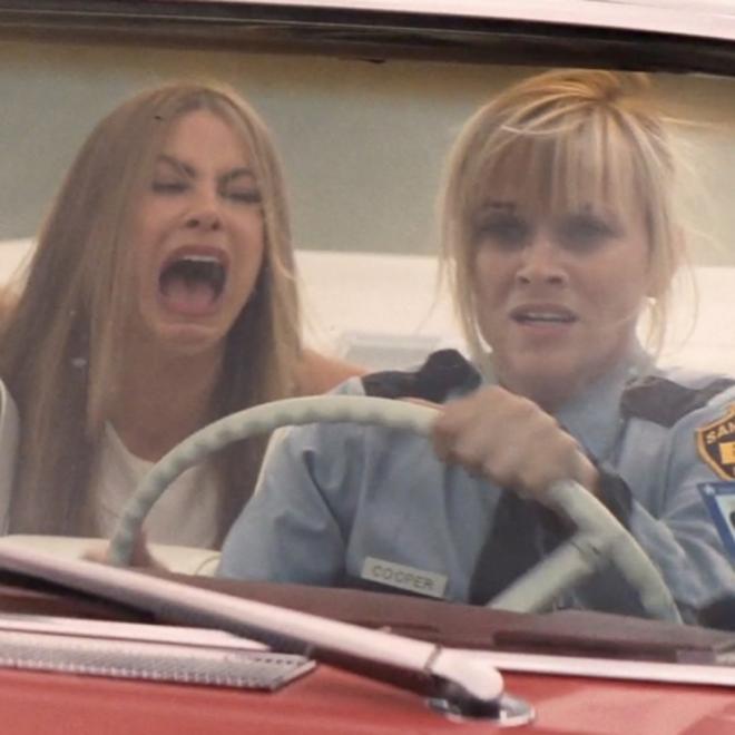Sofía Vergara y su cara de terror con Reese Witherspoon