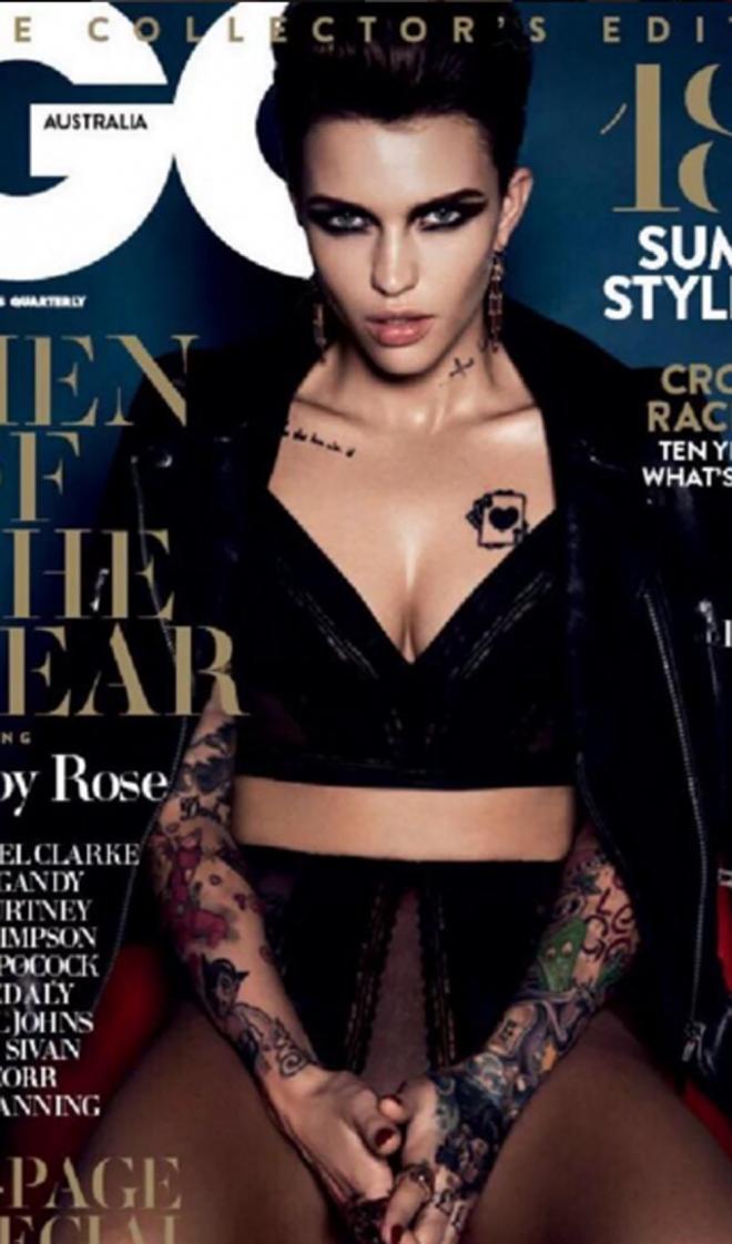 Ruby Rose, portada de GQ Australia