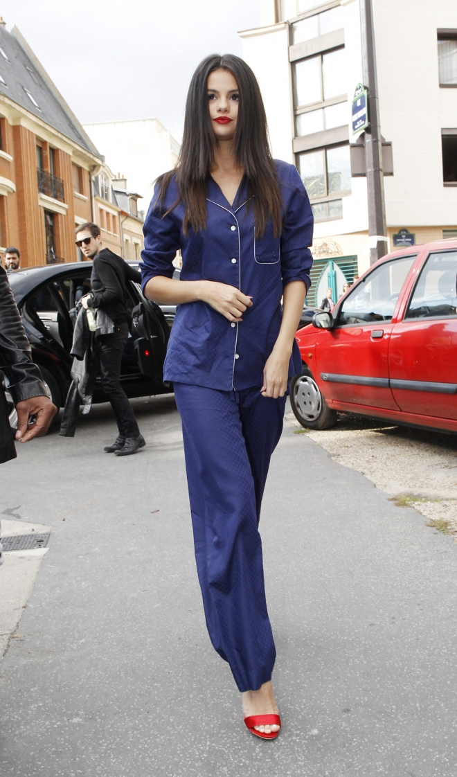 Famosos con pijama en la red carpet: Selena Gomez
