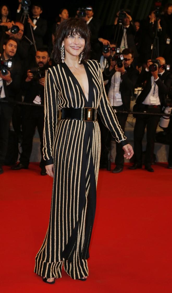 Sophie Marceau, radiante y estupenda