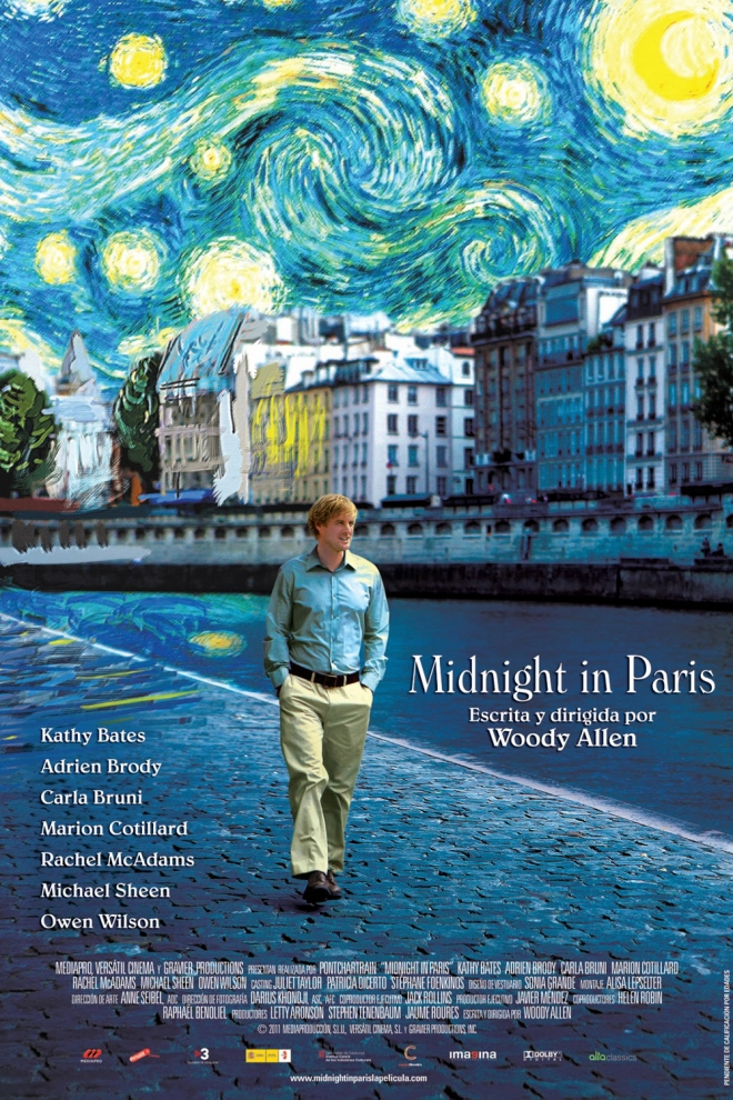 Películas de Owen Wilson: Midnight in Paris