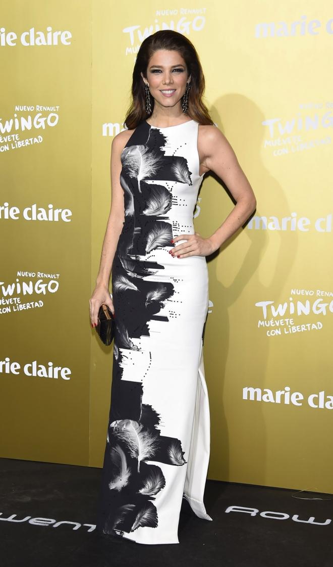 Premios Marie Claire 2015: Juana Acosta, black & white