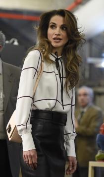 Rania de Jordania, una reina elegante en España